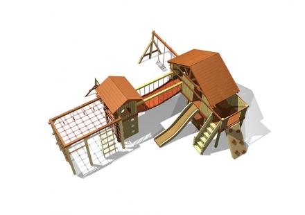 Деревянный детский игровой комплекс, 3310