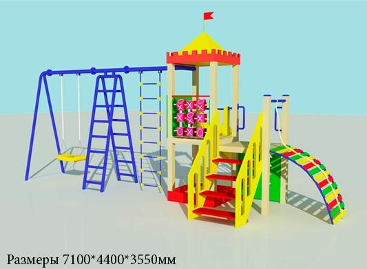 Деревянный детский игровой комплекс, 3318